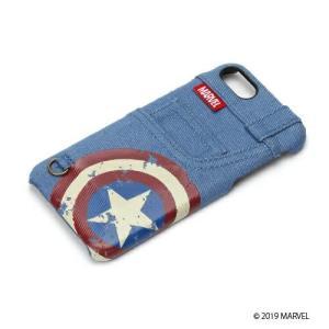 MARVEL マーベル iPhone8・iPhone7 ハードケース ポケット付き キャプテン・アメリカ PG-DCS164CTA|pg-a