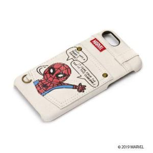 MARVEL マーベル iPhone8・iPhone7 ハードケース ポケット付き スパイダーマン PG-DCS165SPM|pg-a
