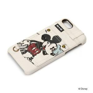 iPhone8・iPhone7 ハードケース ポケット付き ミッキーマウス/アイボリー PG-DCS169MKYディズニー ミッキー ハード|pg-a