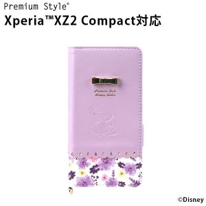 Premium Style Disney series Sony Xperia XZ2 Compact SO-05K フリップカバー マグネットロック カードポケット(×2) ラプンツェル PG-DXP444RPZ|pg-a