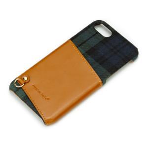 iPhone8・iPhone7 カードポケット付き ハードケース グリーン PG-16MCA01GR スマホケース|pg-a
