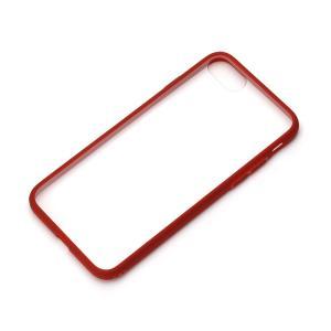 iPhone7 ハイブリッドケース クリア&レッド PG-16MPT03RD|pg-a