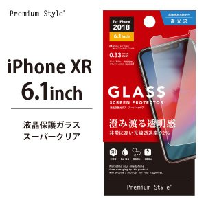 iPhoneXR 液晶保護ガラス スーパークリア PG-18YGL01 【アイフォンXR ガラス スーパークリア】|pg-a
