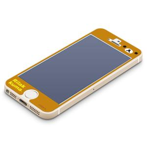 iPhone5s/5c/5専用 ブルーライト低減液晶保護フィルム リラックマ(フェイス) YY00107|pg-a
