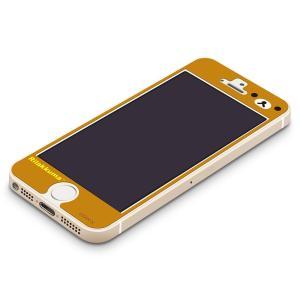 iPhone5s/5c/5専用 衝撃軽減液晶保護フィルム リラックマ(フェイス) YY00110|pg-a