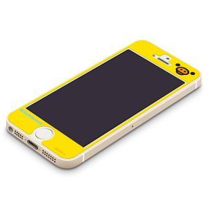 iPhone5s/5c/5専用 衝撃軽減液晶保護フィルム キイロイトリ(フェイス) YY00112|pg-a