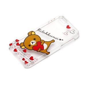 iPhone5c ポリカーボネイトケース クリア リラックマ(ハート) YY00208|pg-a