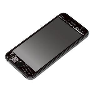 iPhone6s/iPhone6 液晶保護ガラス ブラックフレーム(リラックマ/ファクトリー)2973YY01206 pg-a