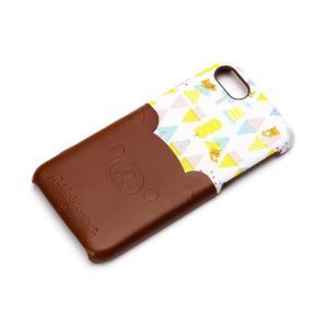 iPhone8・iPhone7 ポケット付きPUケース リラックマ/ダイカット YY01606 pg-a