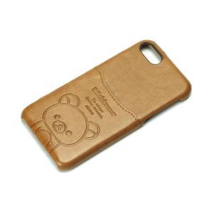 iPhone8・iPhone7 ポケット付きPUケース リラックマ/ブラウン YY01608 pg-a