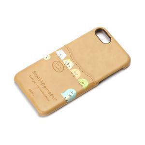 iPhone8・iPhone7 ポケット付きPUケース すみっコぐらし/ブラウン YY01609 pg-a