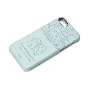 iPhone8・iPhone7 ポケット付きPUケース すみっコぐらし/ブルー YY01610|pg-a