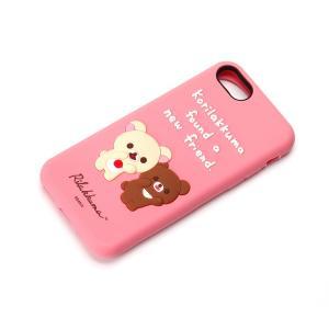 iPhone8・iPhone7 シリコンケース コリラックマとチャイロイコグマ YY01804|pg-a