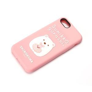 iPhone8・iPhone7 シリコンケース すみっコぐらし/しろくま YY01806|pg-a
