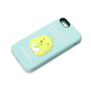 iPhone8・iPhone7 シリコンケース すみっコぐらし/ぺんぎん? YY01807|pg-a