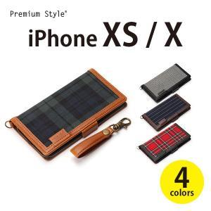 iPhoneXS iPhoneX アイフォン iPhoneケース 手帳型 フリップカバー ファブリック生地アイフォンX XS 手帳 pg-a