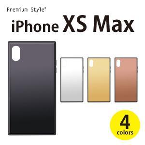 iPhoneXSMax ガラスハイブリッドケース  【アイフォンXSMax  シンプル ガラスハイブリッドケース】|pg-a
