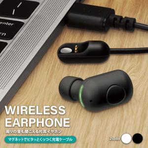 Bluetooth 5.0搭載 片耳ワイヤレスイヤホン マグネット充電ケーブル付|pg-a