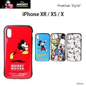 ディズニー iPhoneXR iPhoneXS iPhoneX ハイブリッドタフケース ミッキー 【ディズニー アイフォン 90周年 ケース】|pg-a