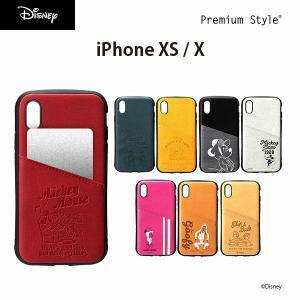 iPhone Xs/X用 ディズニーキャラクター タフポケットケース|pg-a