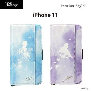iPhone 11用 アナと雪の女王 ダブルフリップカバー pg-a