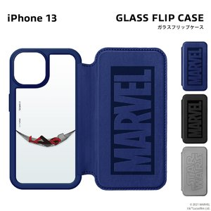 iPhone 13 用 ガラスフリップケース|pg-a