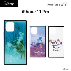 iPhone 11 Pro用 アナと雪の女王 ガラスハイブリッドケース pg-a