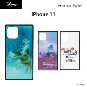 iPhone 11用 アナと雪の女王 ガラスハイブリッドケース pg-a