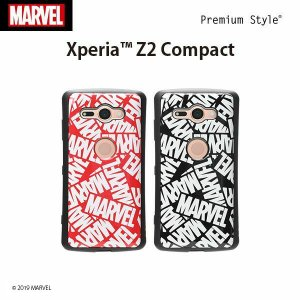 XperiaXZ2Compact用 マーベル MARVEL ハイブリッドタフケース pg-a