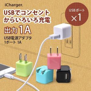 USB 電源アダプタ 1 ポート 1A pg-a