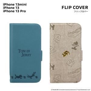 iPhone 13 mini/13/13 Pro用 フリップカバー トムとジェリー|pg-a