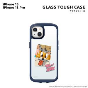 iPhone13/13 Pro用 ガラスタフケース [トムとジェリー]|pg-a