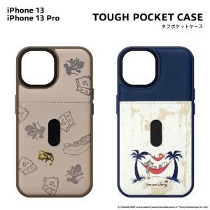 iPhone13/13 Pro用 タフポケットケース トムとジェリー|pg-a