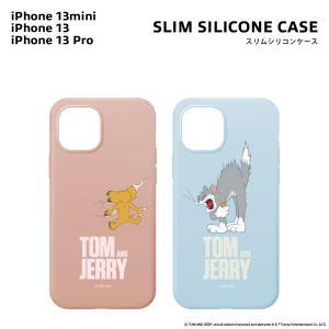 iPhone 13 mini/13/13 Pro用抗菌スリムシリコンケース トムとジェリー pg-a