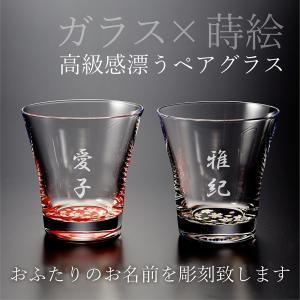ガラス×漆塗り!  名入れグラスの底面に上品な桜模様をあしらった紀州漆器の一品。   各種ギフトに加...