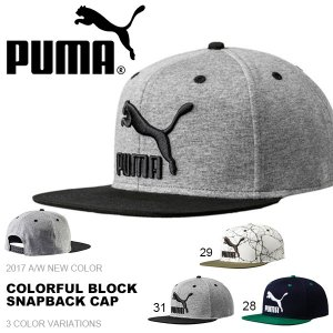 ベースボールキャップ プーマ PUMA メンズ レディース カラフルブロックスナップバックキャップ 帽子 CAP 2017秋冬新色|phants