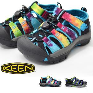 15周年記念 水陸両用 サンダル KEEN キーン キッズ ジュニア Newport H2 ニューポート Rainbow Tie Dye 子供靴 シューズ アウトドア ハイブリット 2018新作|phants
