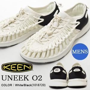 アウトドア スニーカー KEEN キーン 靴 メンズ UNEEK O2 ユニーク スリッポン White Black 白 黒 ホワイト サンダル シューズ|phants