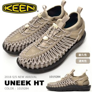 アウトドア スニーカー KEEN キーン メンズ UNEEK HT ユニーク HT 編み上げ スリッポン 1019284 ベージュ クライミング フェス サンダル シューズ 靴 2018新作|phants