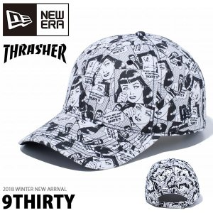 NEW ERA ニューエラ 9THIRTY THRASHER スラッシャー クロスストラップ boyfriend ベースボール キャップ メンズ レディース 帽子 2018冬新作|phants