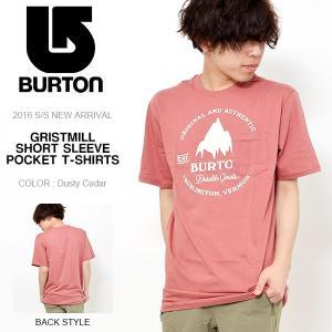 半袖 Tシャツ バートン BURTON メンズ Gristmill Mens SS TEE シャツ ロゴ プリント ポケット付き コットン スリムフィット 30%off|phants