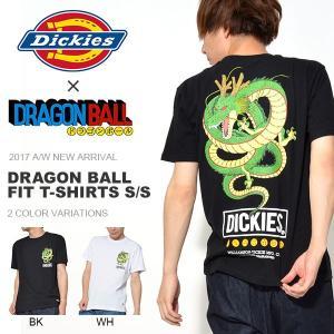 半袖Tシャツ Dickies ディッキーズ DRAGON BALL ドラゴンボール コラボ Tシャツ メンズ 神龍 シェンロン 2017秋冬新作|phants