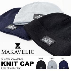 ニットキャップ ニット帽 ビーニー マキャベリック MAKAVELIC HEADWEAR ロゴ 帽子 20%off phants
