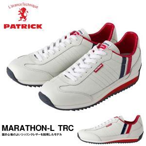 スニーカー パトリック PATRICK メンズ MARATHON-L TRC マラソン レザー トリコロール ホワイト 白 シューズ 靴 日本製 送料無料