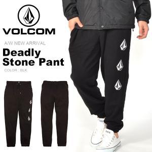 スウェットパンツ VOLCOM ボルコム メンズ Deadly Stone Pant ロングパンツ A1231802 2018秋冬新作 日本正規品 得割10|phants