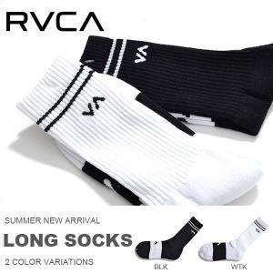スポーツソックス RVCA ルーカ メンズ ロゴ クルーソックス サーフ スケート トレーニング 靴下 日本正規品 30%off|phants