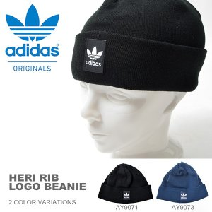 ニット帽 adidas ORIGINALS アディダス オリジナルス メンズ HERI RIB LOGO BEANIE ロゴ ビーニー 帽子 2016秋冬新作
