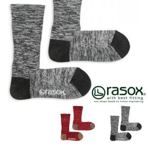 ラソックス rasox 靴下 メンズ レディース ウォームウール・クルー ソックス 吸湿発熱 L字型 日本製 カジュアル アウトドア|phants