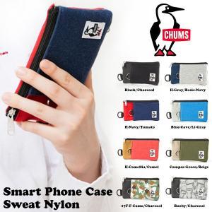 スマホケース CHUMS チャムス Smart Phone Case Sweat Nylon iPhone6対応 スマートフォン ポーチ コインケース パスケース 2017秋冬新色|phants