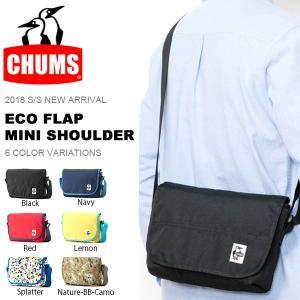 ショルダーバッグ CHUMS チャムス Eco Flap Mini Shoulder エコフラップミニショルダー 斜め掛けバッグ アウトドア フェス 旅行 20%off phants
